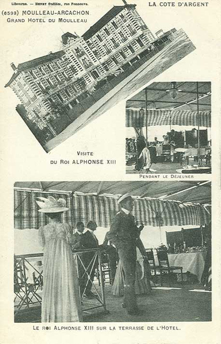 Alphonse XIII roi d'Espagne au Moulleau