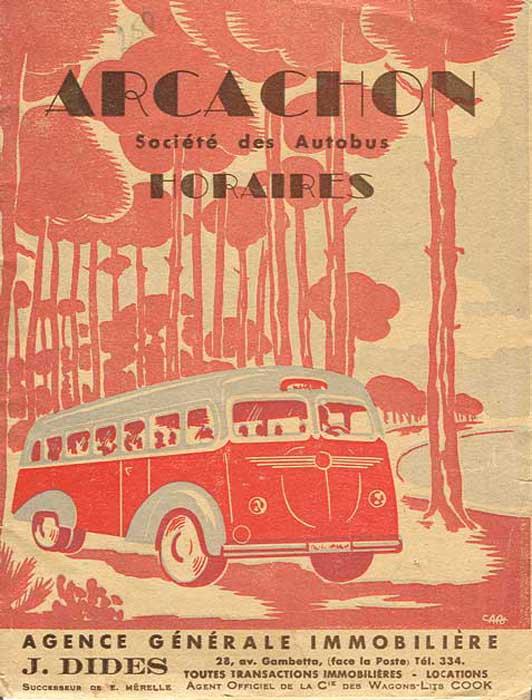 Horaires Autobus 1948