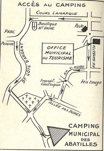 Plan d'accès au camping