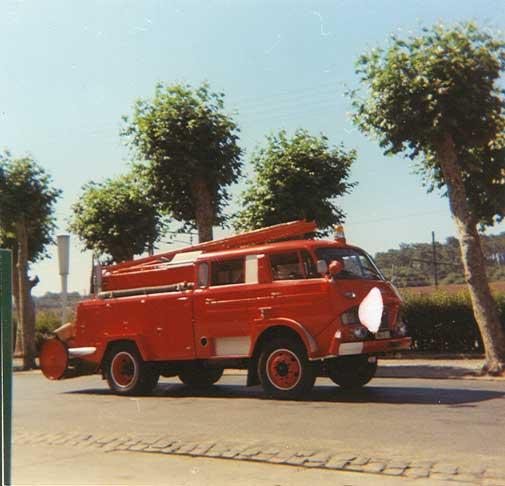 la voiture des Pompiers